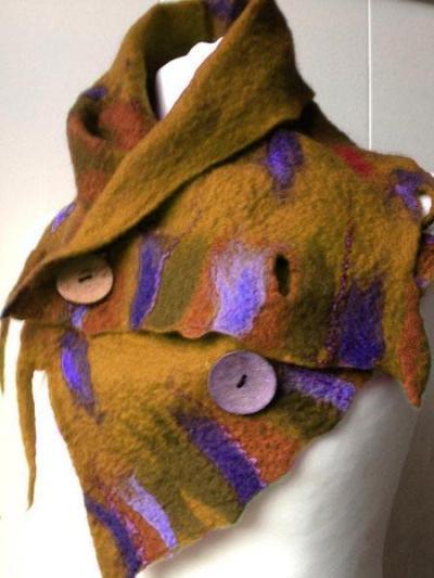 Purple Vintage Plain Scarves & Shawls