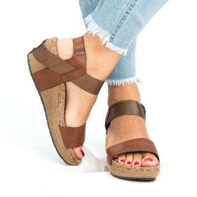 Summer Open Toe Casual Wedge Heel Sandals