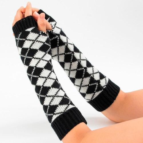 Fashion Wrist Warmer Winter Knitted Long Fingerless Gloves for Women Mittens