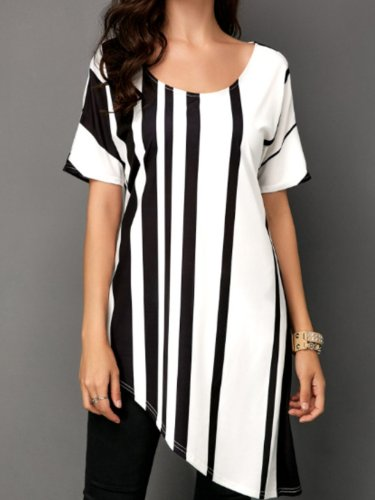 White Striped Casual Shirts & Tops
