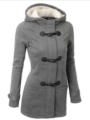 Womens Plus Size Paneled Hoodie Outerwears