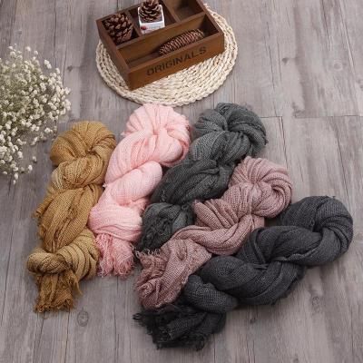 200*90 cm High Quality Linen Scarf Fabric Soft