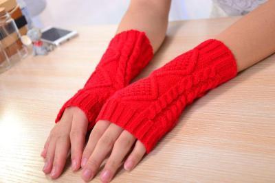Knitted Fingerless Ladies Gloves Arm Warmer Mittens