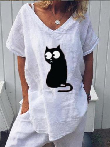 Printed Short Sleeve Casual Shirts & Tops