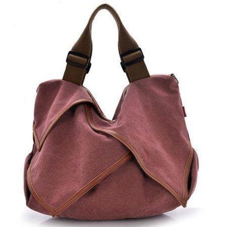 Flower Design Canvas Portable High Capacity Handbags Crossbody Shoulder Bag
