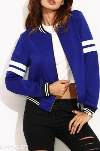 Fashion Solid Color Short Jacket
