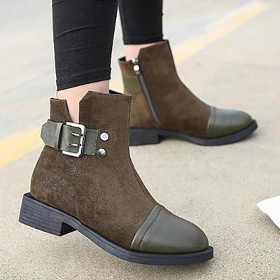 Women Booties Casual Comfort Shoes Artificial Leather Boots