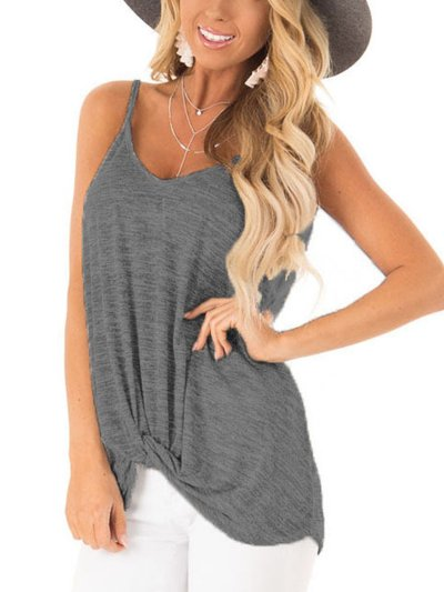 Cotton Casual Sleeveless Shirts & Tops