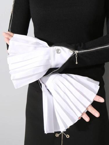 Fashion Ruffled Mandarin Sleevelet