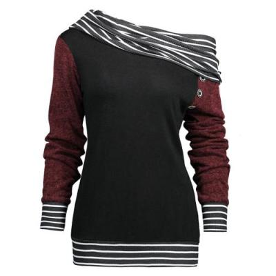 Long Sleeve Striped Casual Blouse & Shirts