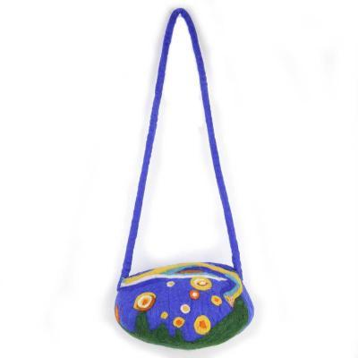 Wool Felt Starry Sky Hat Shoulder Bag
