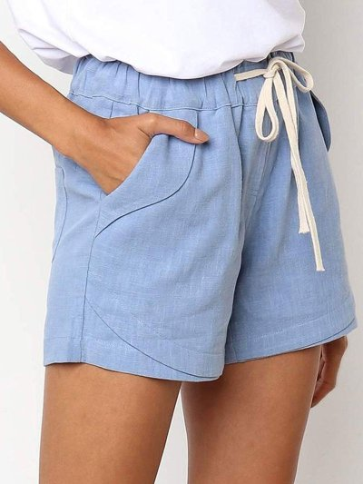 Holiday Pockets Cotton-Blend Shorts