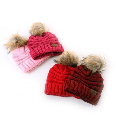 Winter Knit  Beanies Children Hat Autumn Ball Hat for Kids Boys Girls Warm Knitted Outdoor Caps 2020 Kids Christmas Gift