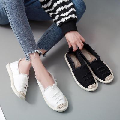Women Canvas Loafers Casual Comfort Flat Shoes