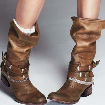 Buckle All Season Leather Boots