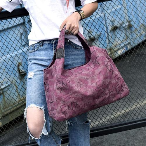 Casual Fashion Ladies Shoulder Bag Canvas Large Capacity Portable Big Bag