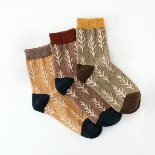Spring Warm Stockings Christmas Wool Socks Winter Cotton Thickened