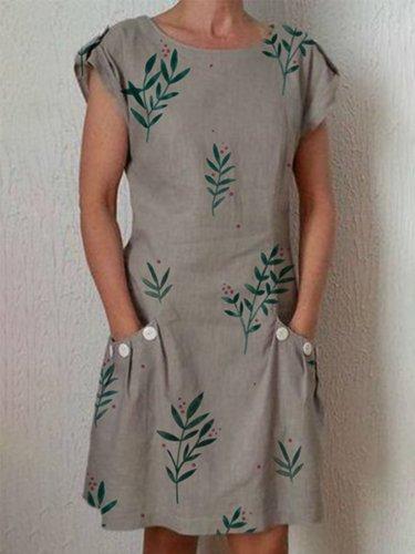 Casual Pockets Dresses