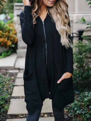 Long Sleeve Casual Asymmetric Plus Size Hoodies