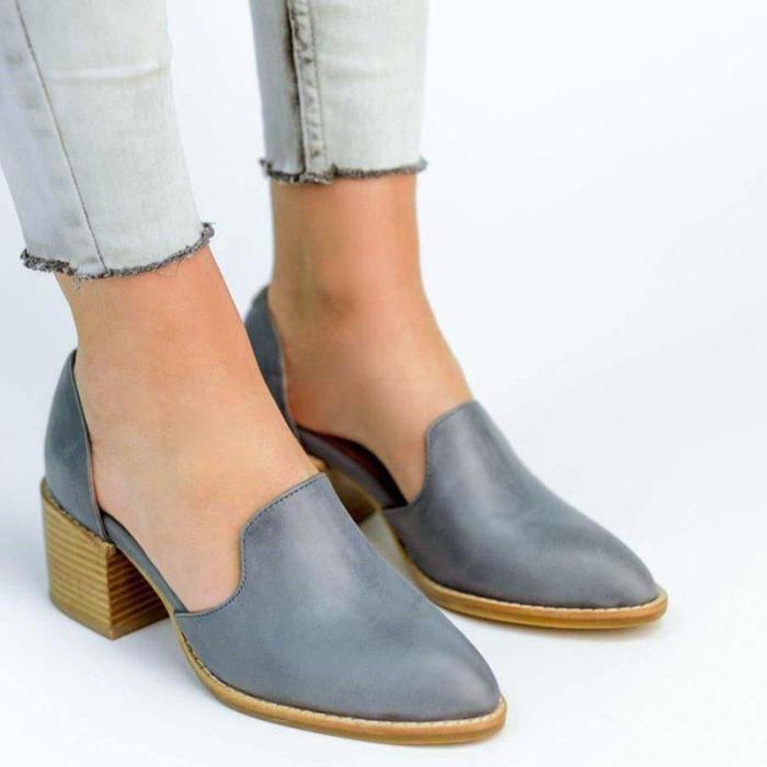 Women's Chunky Heel Vintage Leisure Shoes