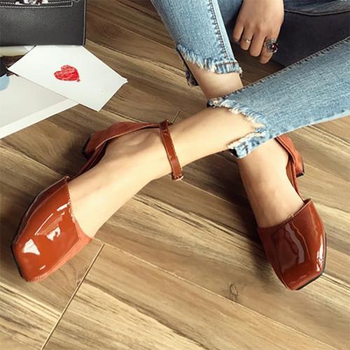 Date Spring/Fall Suede Panel Chunky Heel Heel