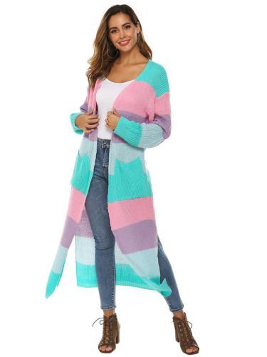 Fashion Women Knitted Sweater Long Sleeve Coat Cardigan