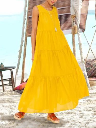 Yellow Sleeveless Holiday Dresses