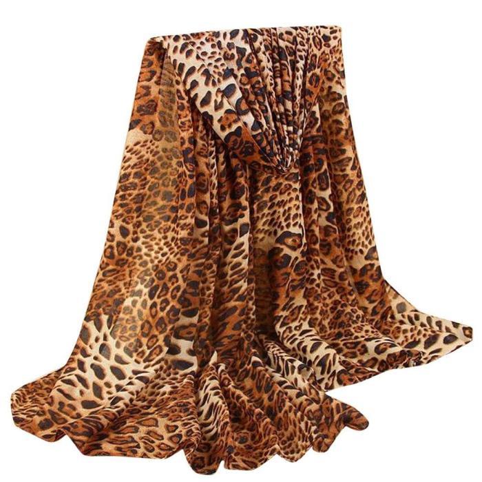 Women's New Classic Leopard Scarf Cotton And Linen Fashion Wild Foulard neck bandana Scarf Female Shawl Scarf бандана New 2020