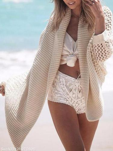 Fashion Hollow Knit Cardigan Sweater