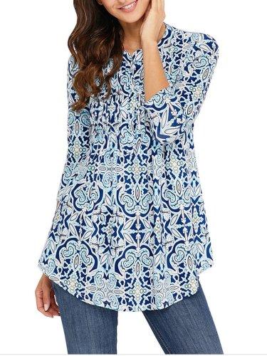 V Neck Half Sleeve Shirts & Tops