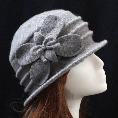 Dome Ladies Wool Hat Autumn and Winter Warm Cap