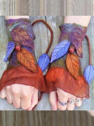 Red Vintage Gloves & Mittens
