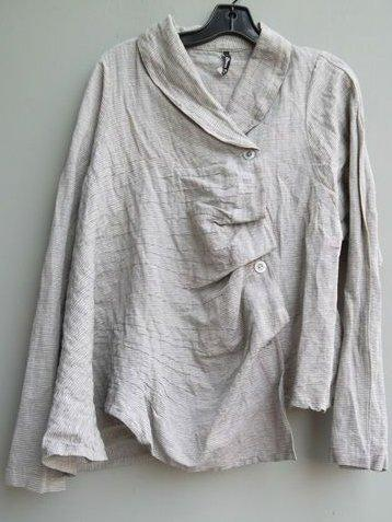 Plus Size Casual Long Sleeve Buttoned Solid Tops