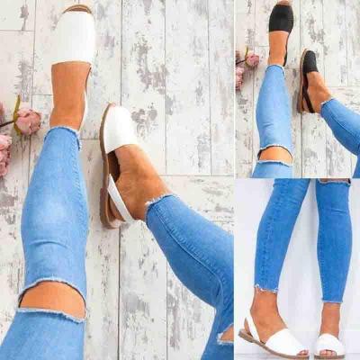 Women PU Sandals Casual Peep Toe Outdoor Shoes