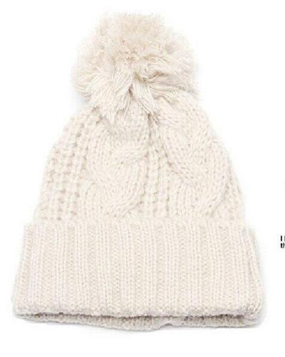 New Winter Warm Knitted Cap Men and Women Fashion Twist Flanging Earmuffs Hat