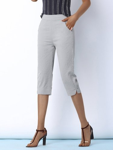 Plus Size Women Solid Loose Casual Pants