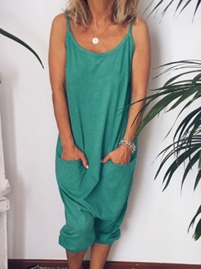 Casual Spaghetti Sleeveless One-Pieces Jumpsuits