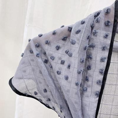 Spring and Autumn New Scarf Women's Cotton Triangle Small Shawl.