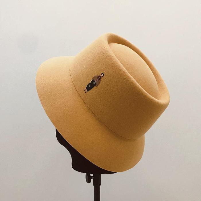 Female Retro Fashion Hat Elegant Felt Hat