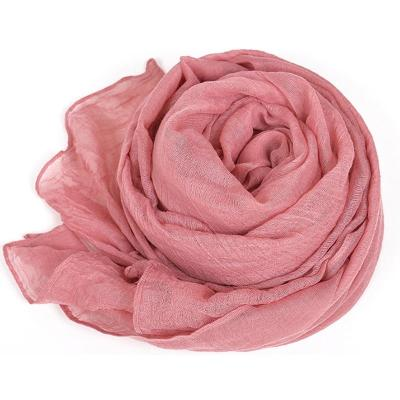 Fashion Solid Color Cotton Linen Women Scarf Green Warm Cape Autumn Winter Ladies Voile Scarf 2020 Women's Shawl