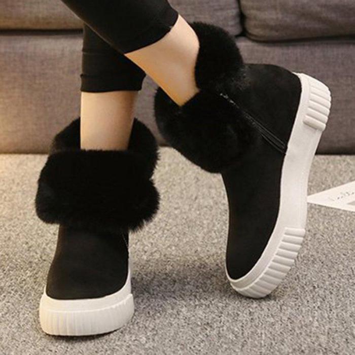Women Casual Leopard Boots Zipper Shoes