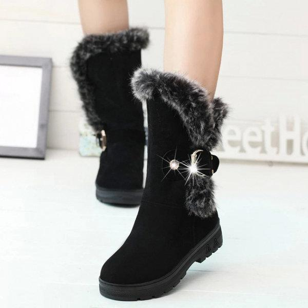 Winter Suede Round Toe Warm Ankle Boots