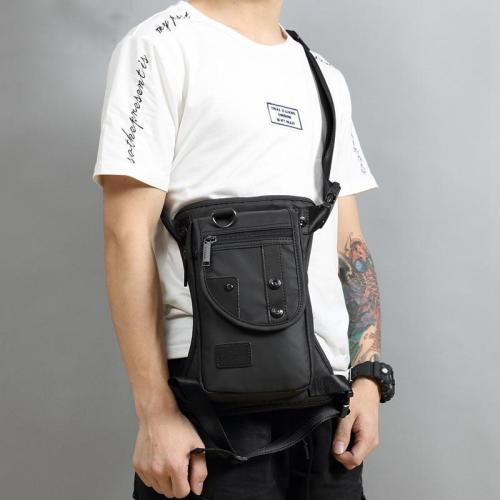 Men Fashion Nylon Waterproof Multi-function Pocket Chest Bag