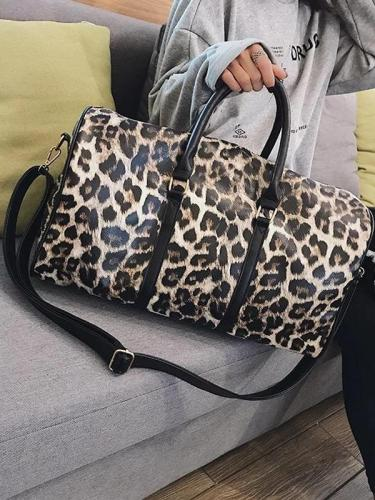 Women's Vintage Animal Print Large Capacity Tote