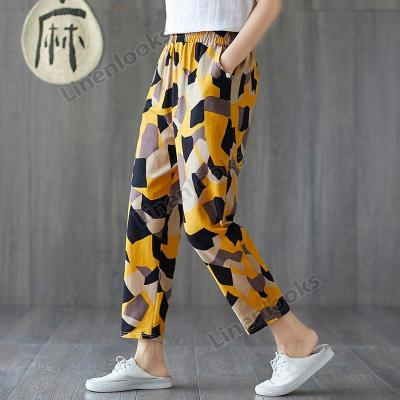 Women's Loose Cotton and Linen Casual Pants