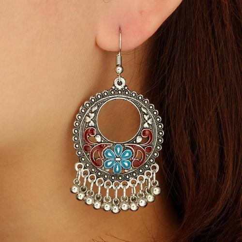 Women Earrings Vintage Jewelries Round Bells Tassel Gorgeous Earring