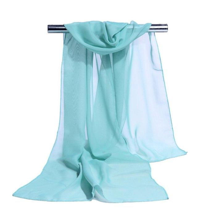 19 Colors Chiffon Scarf Women Summer Silk Scarves Foulard Pure Color Hijab Stoles Dropshipping Chiffon Thin Shawls And Wraps