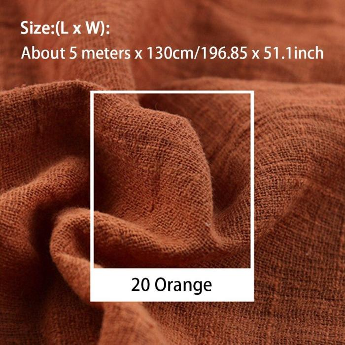 5 Meters Linen Fabric Patchwork Solid Cambric Soft Material Quilting Thin DIY Sewing Decoration Home For Clothing Organic Crafts