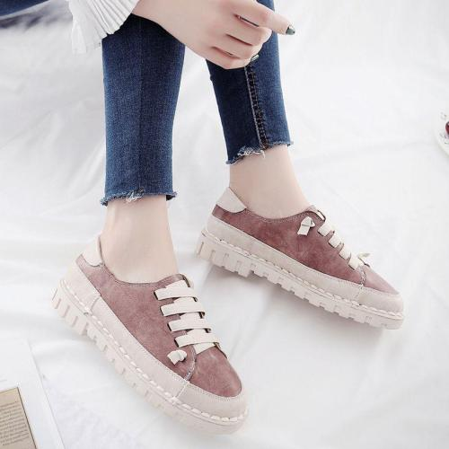Women Spring/Fall Lace-up Daily PU Loafers