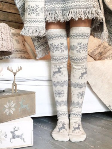 Christmas Elk Pattern Stockings